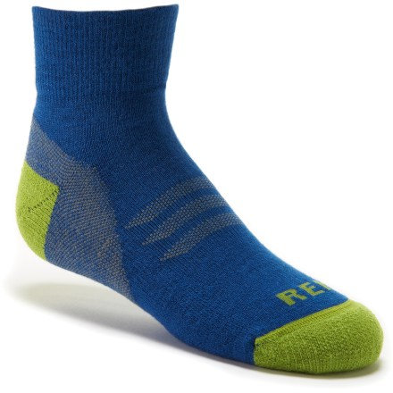 Entertainment REI CoolMax EcoMadeTM quarter socks are made from recycled plastic bottles and deliver moisture-wicking comfort and performance. - $3.93