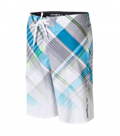 Surf O'Neill Condor Boardshorts.  Comfort fly closure; patch pocket with logo; allover fade print. - $54.50