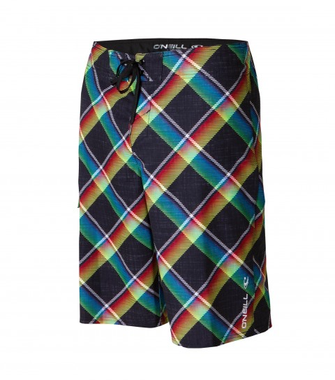Surf O'Neill Gigantor Boardshorts.  Comfort fly drawcord; logo embroidery; patch pocket; allover print. - $54.50