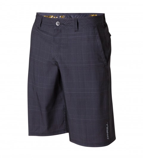 "Surf O'Neill Transit Hybrid Shorts.  Epicstretch.  21"" outseam boardshort features zipper fly; internal waistband drawcord; front pockets with zippers; back stow pocket; woven labels and screened logos. - $40.99"