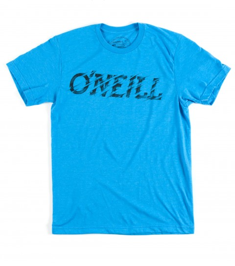 Surf O'Neill Momentum Tee.  50% Cotton / 50% Poly.   30 singles modern fit heather tee with softhand screenprint. - $15.99