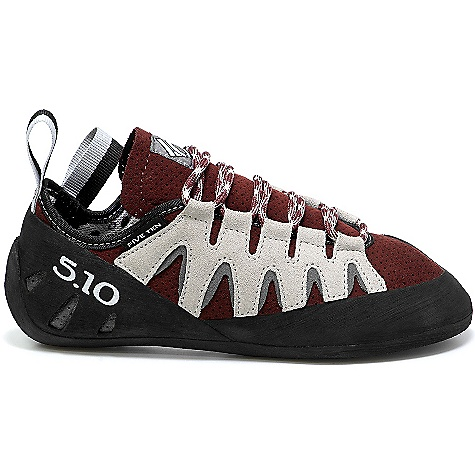 Climbing Features of the Five Ten Women's Siren Climbing Shoe Stealth ONYXX Rubber - High friction rubber. Unbeatable hardness for precision edging, stickiness for friction, and exceptional durability Lined synthetic Upper All-day comfort Fit Perforated Upper for enhanced breathability - $144.95