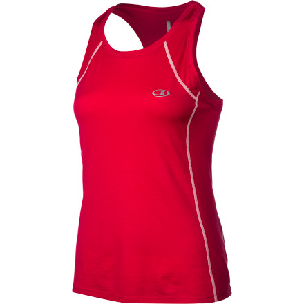 Fitness Slip into your Icebreaker Women's Zest Tank Top before you hit the road running. The soft, smooth merino wool manages moisture and helps your body maintain a comfortable temperature so you can push yourself without being drenched in sweat and overheating because your top can't keep up. - $59.95