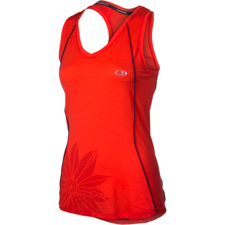 Fitness Throw on your Icebreaker Women's Flash Tank Top before you stride into your daily trail running session. The soft merino wool works hard to keep your body comfortable even when you're working up a serious sweat. You'll get the performance of a synthetic technical top with more comfort and without that smell that can build up in synthetics. - $69.95
