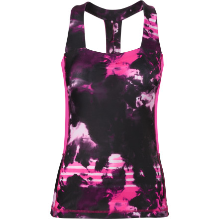 Fitness Even if you're not practicing in a hot room, you'll appreciate themoisture-wicking comfort and breathable construction of The North Face Women's Tadasana VPR Sport Tank Top. A built-in bra adds support, and the racerback cut gives it an overall sporty look. - $54.95
