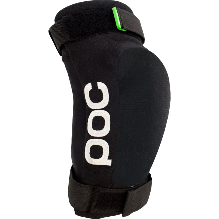 Fitness POC designed the Joint VPD 2.0 Elbow Guard to take the pain out of wearing armor. POC's VPD material is lightweight and flexible, so the elbow guard is comfortable to wear, even on long XC epics. The Joint VPD 2.0 is also well-ventilated  to keep you dry and cool. Body armor doesn't have to be uncomfortablePOC has proven it.Generally speaking, there are two types of body armor: soft, flexible armor that's designed to be comfortable and hard-shell armor that's designed to absorb huge impacts. As logic would dictate, the soft stuff doesn't protect as well and the hard stuff isn't as comfortable. Well, now there's a third kind of armorPOC VPD. As far as we can tell, it's magic. VPD is a soft, flexible foam material that conforms to the contours of your body. However, in the event of an impact, it hardens instantly to provide the protection of a hard shell. It truly is the best of both worlds. Not only that, but VPD is a true multi-impact armor, so the protection level during your 20th crash is the same as it was during your 1st. This is especially important because a fall can often involve several impacts. You don't want your protection level to drop off over the course of a fall, because that last hit might be the hardest. VPD is lightweight, soft, and flexible, so it's some of the most comfortable armor that we've tried. Another reason that VPD is so comfortable is efficient airflow. POC riddles its VPD material with vents so air flows freely in and out to keep your skin dry and cool, so you don't roast in the heat of the summer and get that nasty, clammy feeling under your pads. The main body of the elbow guard is abrasion-resistant Kevlar-reinforced stretch fabric. POC also uses a static Crash Retention Strap to keep the guard from slipping out of place. At the elbow itself, POC covers the VPD with a flexible hard shell cap to make the Joint VPD 2.0 DH Elbow Guard tough enough to handle the most brutal digger. The POC Joint VPD 2. - $99.95