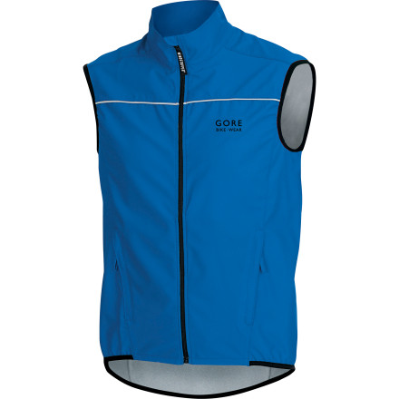 Fitness Zip the Gore Bike Wear Men's Countdown Vest over your bike jersey when you want extra protection from the wind. This slim-fit vest features WindStopper tech to keep your core warm, and a high collar to protect your neck. GORE added a mesh insert in the back to aid ventilation and gave the Countdown AS a long back for optimal in-the-saddle fit. - $54.98
