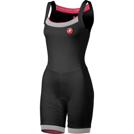 Fitness If you need the seamless, comfortable feel that only a one-piece construction provides, yet you still need the support of technical shorts and a jersey, Castelli's Perla Women's Body is designed for you. A smooth, soft, and wicking fabric that's been couple with a deceivingly simple form makes this a piece that's at once supportive and comforting. Castelli constructed the Perla Body using its smooth and stretchy Softflex fabric. This material gives off both the casual look and soft feel of cotton, yet it provides outstanding moisture management and breathability. This material combines all of the technical features that make Castelli's women's jerseys so popular, only with the added benefit of having slender side panels that are free from any seams. This not only adds comfort while in the riding position, but it also means that the Perla Body stays in place and moves with you as you ride. In terms of fit, you'll most likely find the Perla Body strikingly familiar. Essentially, Castelli combine the Perla Bavette top with its Perla shorts. Why' Well, for the same reason that Castelli created the Sanremo Speedsuit. It provides a next-to-skin fit with the added benefits of increased support and, surprisingly, increased ventilation. Also, it doesn't hurt that you get the combination of two fan-favorite pieces for the price of one. For further comfort, Castelli incorporated it seamless, women's-specific KISS3 Donna chamois into the Perla Body. Basically, this insert is comprised of multiple layers in order to guarantee comfort. At the surface, there's a soft fabric skin-care layer that's been built right into the variable density pad. Not stopping there, Castelli also added a bacteriostatic treatment that eliminates the risk of chafing, saddle sores, and infections. For support, the insert places a maximum thickness and density in the ischial zone (sit bones), while tapering to a more moderate thickness in the perenium. - $119.95