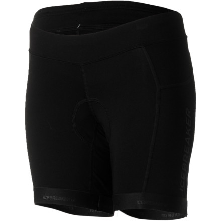 Fitness Nothing is going to make 5 hours in the saddle comfortable, except many more days in the saddle. You can take a little of the edge off now with Icebreaker Women's Vibe Cycling Shorts. Vibe Shorts incorporate an Italian chamois to reduce fatigue and manage moisture to keep you as comfortable as possible in the saddle. The main body is made with a blend of spandex, merino, and nylon that provides freedom of movement, fights odor, and wicks away sweat, all at the same time. Icebreaker made the Vibe short with a blend of merino, nylon, and spandex. This durable fabric breathes well to allow your body to regulate its temperature efficiently. It also wicks moisture away from your skin and brings it to the surface of the fabric, where it can dry quickly. The stretch allows the short to conform to your shape for comfort and aerodynamics.  The shorts are designed around an ergonomic-cut, 8-panel design. The 7.25-inch inseam length is designed to fall just above the knee for plenty of thigh coverage without interfering while you pedal. Icebreaker also gave the Vibe Short a wide-contoured waist that rides lower than conventional bike shorts for added comfort went you're bent over in the pedal position. To finish off the Vibe short, Icebreaker added gripper elastic at the hems to keep the legs from riding up while you pedal. The Icebreaker Women's Vibe Short comes in Black and is available in sizes XS through XL. - $135.96