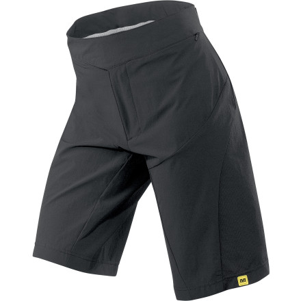 MTB The Women's Meadow Shorts Set uses Mavic's Hot Ride design system with an exclusive combination of ultra-breathable and wicking materials to help keep you cool. This, along with the baggie, yet athletic fit make it a perfect summer or dessert bottom for exploring singletrack. The Meadow short is constructed from Mavic's Trail Tech ST fabric which is a mix of durable and stretchy polyester with spandex. Its weave allows the shorts to easily stretch and move with you as you shift body weight to climb or descend. Another great feature of these Mavic shorts is the removable liner short with an Ergo 2D Women's insert. The Ergo 2D pad has two different densities, and the thickness of the padding is varied, while the highly breathable and wicking liner guarantees comfort. The Shell features two zippered cargo pockets on the side of each thigh. There is room enough for a phone, keys, and gels. The Mavic Women's Meadow Shorts Set are cut for performance -- not too tight, but not loose and baggy. They are available in White in sizes Small trough XX-Large - $109.90