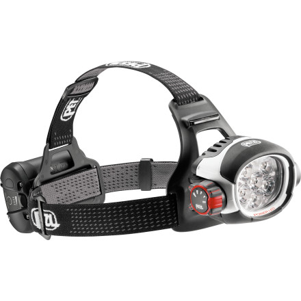 Camp and Hike Slide the incredibly powerful Petzl Ultra Rush Headlamp around your skull and you're suddenly strapped to a miniature sun. Four different lighting modes let you choose the perfect amount of light and burn time for what you're doing. While 'minimum' or 'economic' modes are probably sufficient for a long night hike, you'll probably want to switch to 'optimal' or 'maximum' mode if you're blasting down singletrack on your bike at midnight. - $430.00