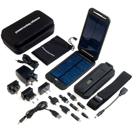 Camp and Hike If life without your devices is simply unimaginable, pack the Power Traveller Powermonkey Extreme Portable Charger and gain the ability to power up your devices with nothing but the sun. The kit includes a powerful lithium polymer battery which can, for example, charge a smartphone 4-6 times. The kit also includes a clamshell-style solar panel that fully recharges the battery in 15 hours, and you can charge the battery via USB or a standard wall outlet before you get to the trailhead. The rugged waterproof construction allows the device to perform in the toughest environments imaginable. - $199.95