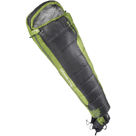 Camp and Hike A cold, sleepless night can signal the last time you convince your youngster to join you on a weekend camping trip. Avoid that scenario with the Lafuma Kids' Ecrins Jr Sleeping Bag. The Aero Fiber synthetic insulation allows young campers to sleep comfortably all the way down to 30F, and the anti-jamming zipper guards eliminate the hassle of stuck zippers. - $64.95