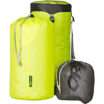 Camp and Hike The war between staying organized and cutting weight has been raging inside your backpack (and probably inside your head) for years, but the Outdoor Research Ultralight-Synthetic Backpackers Kit gives you three sturdy organizing bags that separate your gear without weighing you down. It's a clean way to increase packability  and accessibility, and it adds less than five ounces to your pack. - $53.95