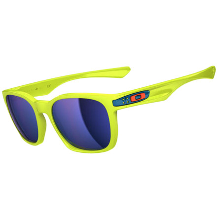 Camp and Hike Don't miss out on the one-of-a-kind colorway offered on the Oakley Limited Edition Fathom Garage Rock Sunglasses. The neon yellow color was inspired by the bright hues of coral in tropical seas, and the Ice Iridium lenses shimmer like the blue waters of the Pacific while offering a comfortable neutral tint from behind the lens. The lenses are also polarized to reduce glare when you actually find yourself out on the water, and Unobtanium nose and temple pads provide a secure fit so your sunglasses don't slip off your face and sink to the depths of the sea. - $150.00