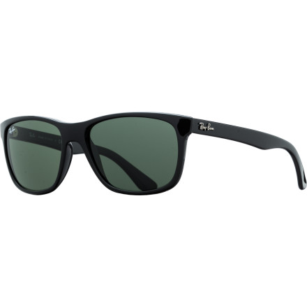 Camp and Hike The Ray-Ban RB4181 Sunglasses deliver an updated, feminine take on the classic Wayfarer design. Crystal lenses offer high-end optical clarity while the array of stylishly subtle colors keeps you looking good from city streets to sandy beaches. - $138.95