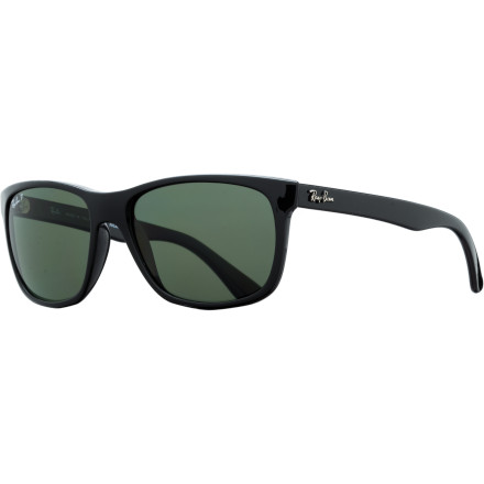 Camp and Hike The Ray-Ban RB4181 Sunglasses deliver a feminine update to the iconic Wayfarer style, with more delicate temple arms and a subtle cateye shape. Polarized crystal lenses provide premium optical clarity and shield your eyes from blinding glare caused by reflected light. - $188.95