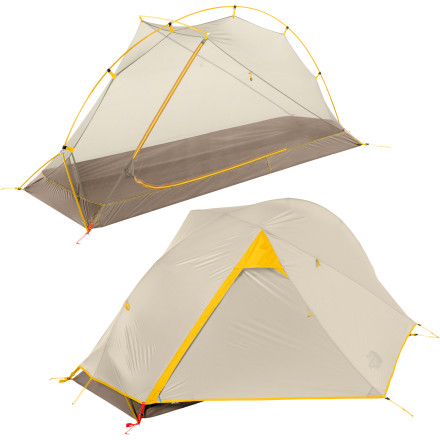 Camp and Hike The North Face Mica FL 1-Person 3-Season Tent provides comfortable shelter from the elements without unnecessary weight, which is key when you're thru-hiking or getting ready for an ultralight backpacking trip. This one-person tent features durable, lightweight components, solid construction, and plenty of space for you and your gear to sprawl out after a ten-hour hike along the Appalachian trail. - $318.95