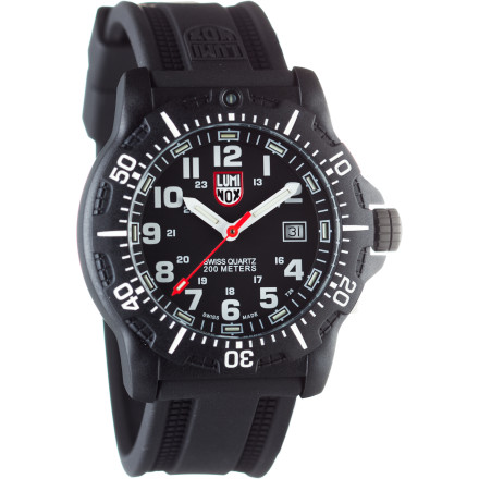 Camp and Hike The Luminox Black Ops Carbon 45mm 8800 Series Watch keeps you on time and on track from dawn 'til dusk thanks to revolutionary light technology that illuminates the time for up to 25 years. The rugged style is versatile enough to go with you on a hot date or a month-long military training in the desert. This is the kind of watch you wear your whole life. - $350.00