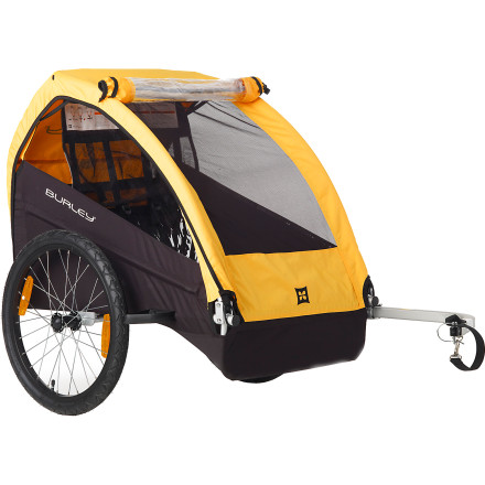 Fitness The Burley Bee Stroller lets your kid come along for the ride (and bring a friend too) without wearing out your quads. This trailer weighs only 20 pounds and keeps its passengers safe with its full internal roll cage and five-point safety harness. - $288.95