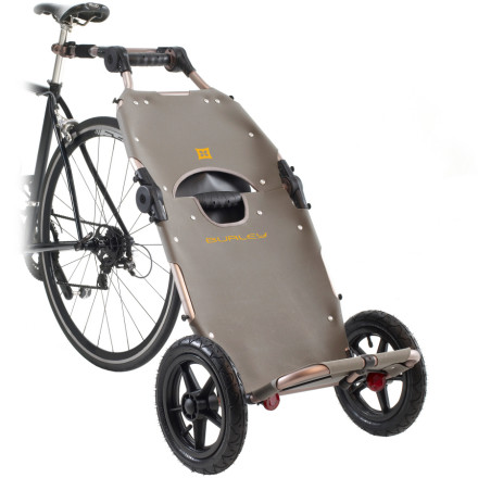 Fitness Kicking the car habit is easier than ever when you have the Burley Travoy Bike Trailer to help carry your gear. This lightweight, easy-to-use trailer attaches and detaches from your bike with ease to roll around the store and into the house. You can even take it along on a trip; the Travoy easily folds down to fit inside a briefcase-sized tote when not in use. - $298.95