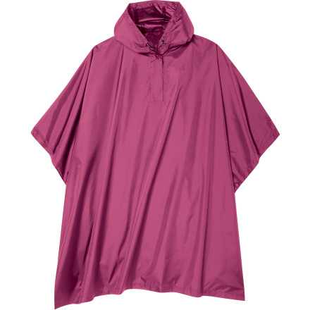 Camp and Hike Mother Nature sometimes treats you to a little bit of an unexpected shower, and when this happens, just reach for the Sierra Designs Girls' Storm Poncho. This poncho boasts 20K-rated fabric and fully taped seams, two specs which are on par with many high-end rain jackets. Simple, easy to pack in a backpack or a shoulder bag, and easy to put on, this poncho is the perfect solution for backpacking, hiking, or waiting for the school bus on a rainy day. - $39.95