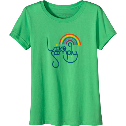 If your girl is into keeping the environment clean, honor her quest to live in harmony with the planet with the Patagonia Girls' Live Simply Rainbow Short-Sleeve T-Shirt. She'll not only dig the message on this tee and its super-soft feel, but she'll approve of its 100% organic cotton content. - $29.00