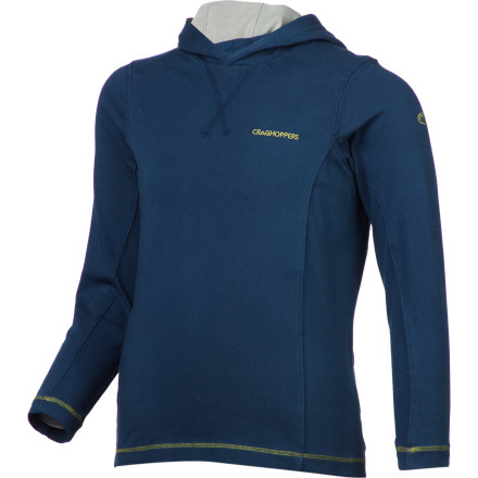From summer camps to backyard fort building, keep your boy covered and comfortable with the Craghoppers Boys' NosiLife Hooded Shirt. In addition to feeling soft, wicking moisture, and drying quickly, this hooded top provides UPF 40+ sun protection and repels 90% of mosquito and bug bites. - $49.95