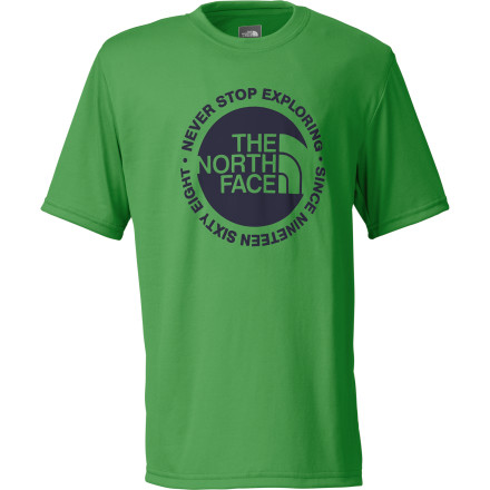 The North Face Boys' Circle Logo Reaxion T-Shirt protects you from the sun while it pulls moisture away from your skin. What that means to your parents is that you won't come home whining about a sunburn. What it means to you is more fun. - $21.95