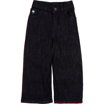 Fitness Your wee one is crawling up a storm and starting to walk, dance, and run; it's time for the mini version Kate Quinn Organics Toddler Girls' 5-Pocket Denim Pant, with all the cottony comfort and versatility of grown-up jeans. Classic five-pocket styling adds street-style cool to her park play date and sweet sophistication when she accompanies you uptown. - $21.97