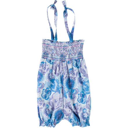Fitness Dress your little pumpkin in the Infant Girls' Voile Smock Romper before you place her in the running stroller and head to the park for some fresh air and exercise. This cute romper will have fellow walkers and joggers cooing over her when you stop for a drink of water. - $28.76