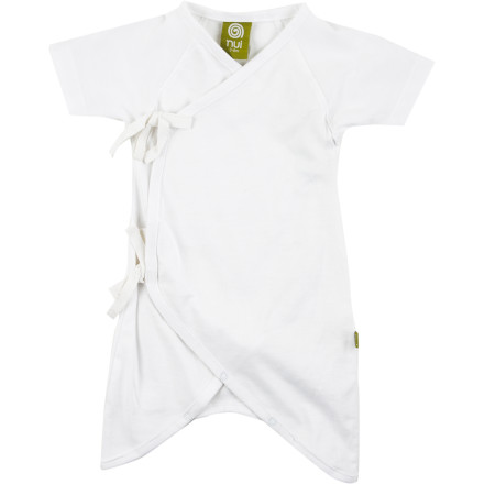 Fitness The Nui Organics Hadagi Gown is an easy-to-wear garment made with soft, breathable 100% organic cotton fabric. The kimono-style closure requires no pulling over the head for easy on-and-off, and grows with your child thanks to adjustable tie closures. - $27.95