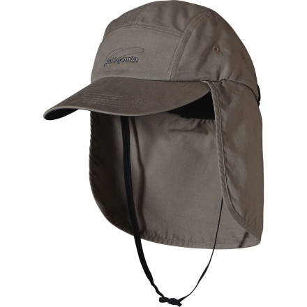 Take care of those oft-forgotten, defenseless areas that always get burned with the Patagonia Canvas Sun Cap. Lightweight and breathable, it protects your ears and neck so you can stay out in the sun all day. - $39.00