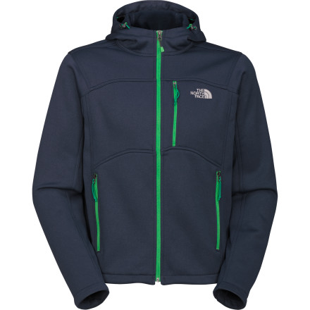 With its clean lines, impeccable attention to detail, and highly wind-resistant fabric, The North Face Jumar Fleece Hoodie blurs the line between stylish sweatshirt and rugged mountain wear. The polyester fleece fabric retains warmth, dries quickly, and breathes well, and the adjustable hood provides additional shelter from the wind and cold. Wear it as a jacket in mildly cool conditions or layer it under your shell when the temperature drops. - $129.95