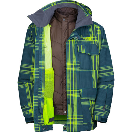 Ski You finally stop worrying about the weather you once you get The North Face Madplaid Triclimate Jacket, because it can pretty much handle anything that normally occurs in nature. With a stormproof HyVent 2L shell on the outside and an insulated liner jacket inside, you can head straight into the worst of winter with a cold smile on your face and skis on your feet. - $143.98