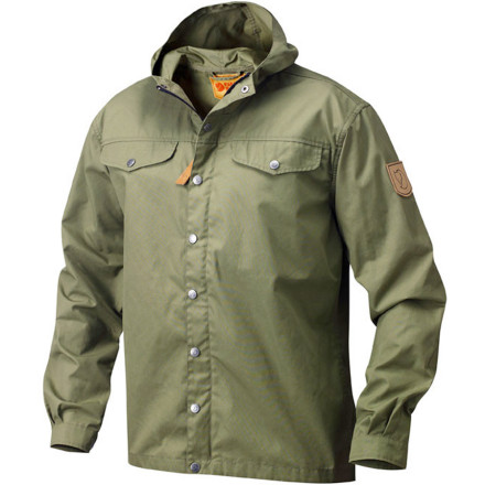 Based on the original 1968 design, the Fjallraven Men's Greenland No. 1 Jacket provides an ideal blend of vintage style, modern performance, and sustainability. The durable G-1000 Eco fabric shrugs off wet weather and is made from a recycled blend of polyester and organic cotton. - $239.95