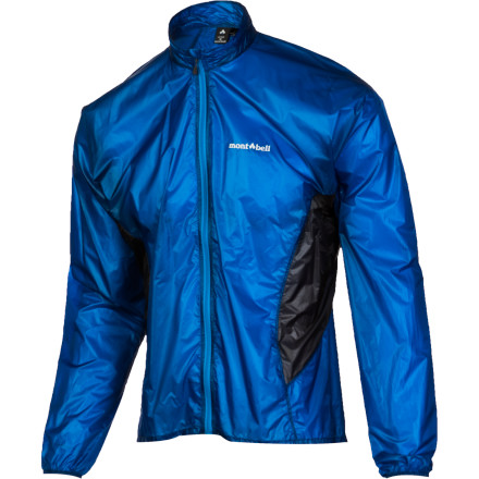 Make sure you have a secure grip on the MontBell Men's Tachyon Jacket when you pull it out of your pack; at just 1.6 ounces, this featherlight windbreaker would be in danger of being taken on a ride by a stiff breeze. The Polkatex DWR finish shrugs off surprise thunder showers and the underarm mesh inserts keep you comfy when you're on the move. - $84.95