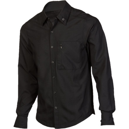 Fitness The NAU Men's Lightbeam Long-Sleeve Shirt has the clean, sleek look of a classic button down, but its technical fabric and DWR coating prepare you for the huge range of conditions you face daily, whether you're biking to the office on a warm spring day or walking to the corner store in a surprise drizzle. - $159.95