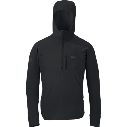 Camp and Hike Reach for the Outdoor Research Men's Whirlwind Hooded Jacket to shield you from sudden gusts while you're high on the ridge of a fourteener or backpacking alongside an exposed cliff. - $88.95
