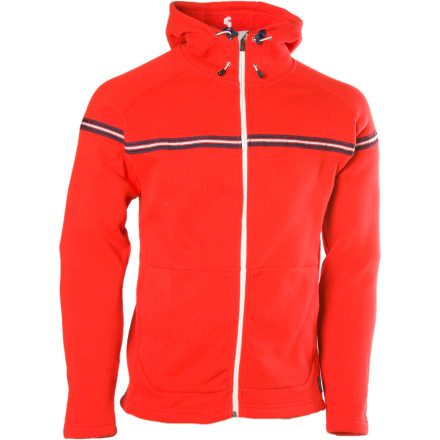 Never mind what you think; we just hope your friends like the bold, crisp look of the Peak Performance Arosa Full-Zip Hoody, because they're going to be seeing a lot of it. Between your wearing it as an extremely function mid-layer that traps heat while still breathing for comfort, and sporting it as a comfortable, warm outer layer, the Arosa will be spending a lot of time on your back this winter. - $65.98