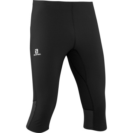 Camp and Hike Run with efficiency and power when you're wearing the Salomon Men's Endurance 3/4 Tight. This tight offers light compressive support for your muscles, and the close fit encourages blood flow while you run, which cuts down on recovery time later. Understated styling allows you to wear this tight for running, hiking, or any other aerobic activity. - $74.95
