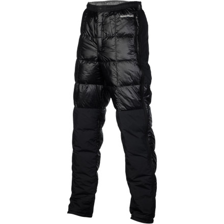 In an age when down jackets are the norm, subvert convention and take warmth to an entirely new level with the MontBell Men's Ultralight TEC Down Pant. The lofty 800-fill goose down treats your lower half better than any pant before and the full-length side zips make getting them on and off a breeze. Plus, the fleece lined front pockets provide a warm place for cold hands. - $174.95