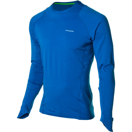 Fitness Don't let cold weather keep you from your daily endorphin fix; simply pull on the Patagonia Men's Thermal Flyer Shirt before starting your run. The soft merino wool blend naturally manages moisture and controls body odor while a touch of spandex allows you to sprint without restriction. Plus, the cuffs fold out to mittens to keep your hands from turning into ice blocks. - $83.30