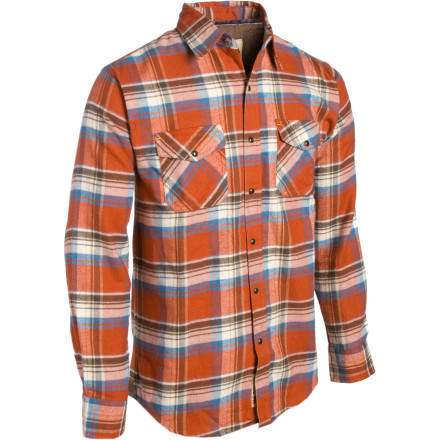 Wimpy long-sleeve tops don't hold a candle to the warmth and durability of the Dakota Grizzly Men's Travis Flannel. With Grizzly in the name, it has to be good. Cut with a regular, somewhat loose fit, this button-up work and everyday shirt takes the bite out of chilly weather without weighing you down. Chamois elbow pads and cuffs add an extra touch of comfort for rugged outdoor missions. - $24.00