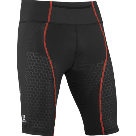 Fitness S-Lab is Salomon's premier line of performance running apparel. As such, the Men's EXO S-Lab Short Tight was created to help you run longer and recover more quickly after a trail race or hard training session. Compressive material supports the muscle groups around your upper leg and just above your knee to reduce vibration and fatigue while you move. Not a company to skimp on the details, this short tight also includes an inner brief for support and lightweight waist construction that eliminates chafing for maximum comfort during long, grueling runs. - $124.95