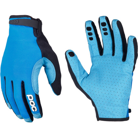 MTB POC designed its Index Air Glove for folks who want the basics with no frills or fancy graphics. The Index Air Adjustable is just that glove with a hook-and-loop adjustment tab at the wrist to make it easier to slip on and off. Index Air Adjustable gloves cover the back of your hand with a durable yet light and breathable nylon mesh, while the palm is made of perforated synthetic suede. It's textured to offer a supreme grip on your bars. It's also quite sensitive, so you'll be able to snap off exact shifts just when you need them. POC also added silicone grippers on your braking fingers so you don't slip off the levers while you're braking hard. For those seeking the perfect fit, the adjustable version of the Index Air glove adds a hook-and-loop tab at the wrist. Ask any old-timerfewer features mean fewer features to break.POC Index Air Adjustable Gloves are available in Zirconium Red, Krypton Blue, and Uranium Black and come in sizes XS through XL. - $49.95