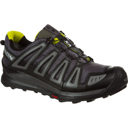Camp and Hike Run through mountains of nasty, wet weather while your foot stays dry and comfortable in the Salomon Men's XA Comp 6 GTX Trail Running Shoe. This shoe feels nimble, it protects your toes from the elements, and it grips mixed trail conditions like you're running on rails. Supinators and under-pronators will find heaven in this neutral-cushioned trail shoe, so crush out a few miles at the park or a hundred miles in the wild. - $97.97