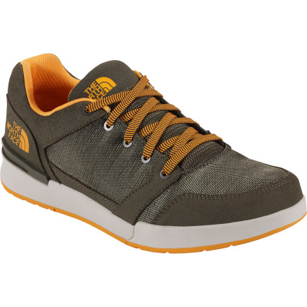 Skateboard Inspired by skate parks and jump parks, The North Face Shifter II Shoe shifts seamlessly from your skateboard to your bike to class to the office. A tough perforated suede and ballistic mesh protects your foot as it allows air to flow freely for comfort, and the sticky rubber outsole stays glued to your deck or to your pedals to give you mid-air traction and control. - $89.95