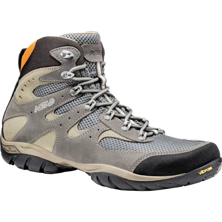 Camp and Hike You want to tackle some steep all-day hikes this season, and you know your sneakers aren't going to give you the comfort, support, and cushioning you need. Asolo designed the Men's Piuma Hiking Boots to give you stellar support, solid traction, and superb breathability so you can bag peaks, hike up rugged terrain, and comfortably descend steep trails. - $157.63