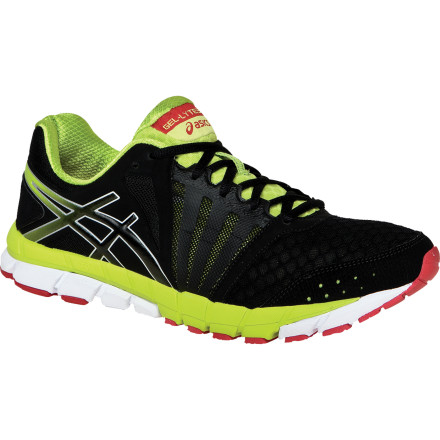 Fitness Asics designed its 33 shoe collection to complement the 33 joints that allow your foot to flex and adapt to the ground, and the Men's Gel-Lyte 33 2 Running Shoe is a prime example of this design direction at work. Lightweight and moderately cushioned, this is a training for middle-distance runners who underpronate or those in need of neutral cushioning or moderate overpronation correction. Like the sole, the upper is streamlined and flexible, designed for articulation and comfort. You'll spring off the full-length cushioning and feel the efficiency of the FluidAxis technology that engages your ankle and forefoot joints in order to encourage a natural gait. Lightweight, low-drop trainers are a dime a dozen these days, so the Gel-Lyte33 takes a different approach by structuring the supportive materials and cushioning in such a way that both flex with your foot. You get the most natural feeling underfoot and all the good stuff that comes with a traditional training shoe design. - $89.95